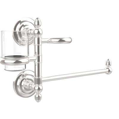Que New Collection Hair Dryer Holder and Organizer in Polished Chrome