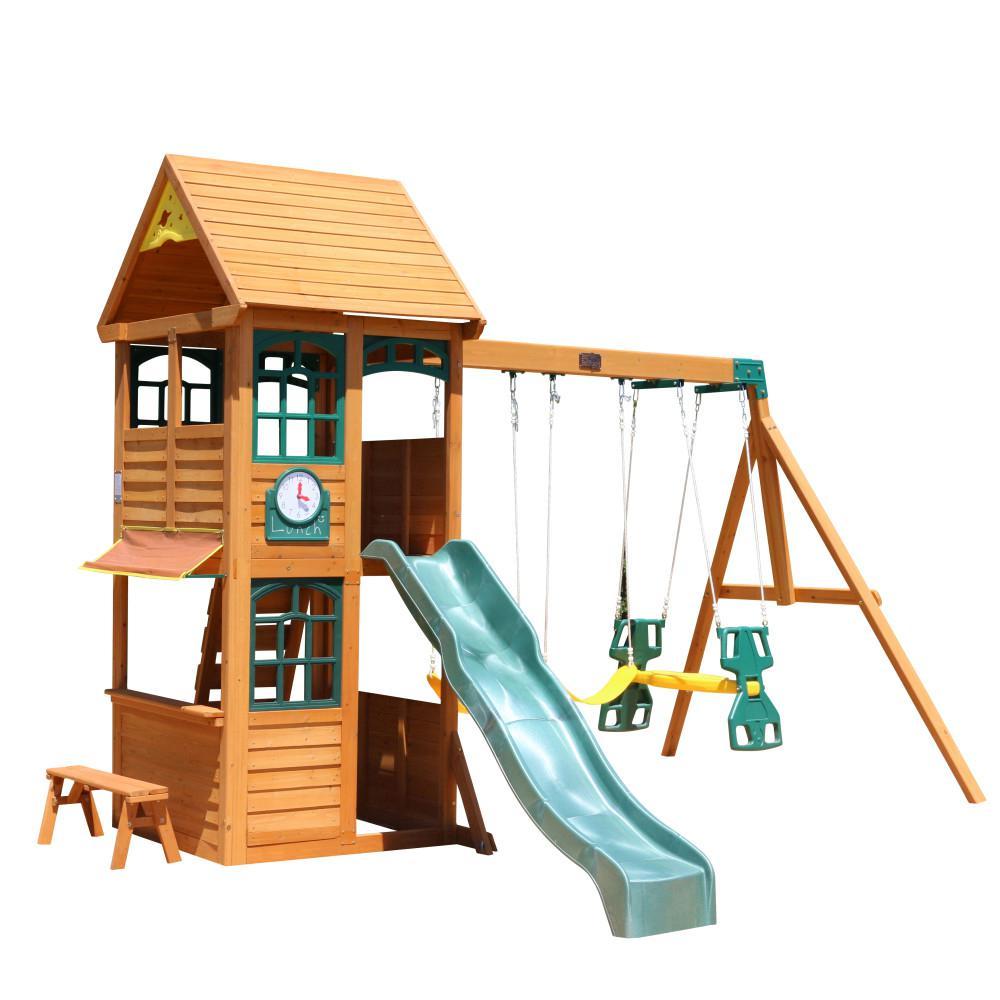 Kidkraft Brooksville Wooden Playset F24915 The Home Depot