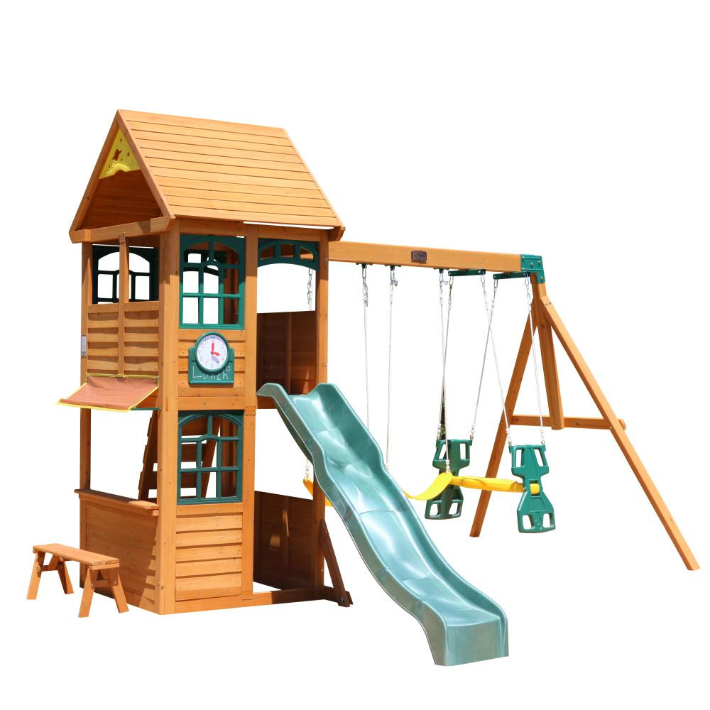 Phenomenal Kidkraft Brooksville Wooden Swing Set Frankydiablos Diy Chair Ideas Frankydiabloscom