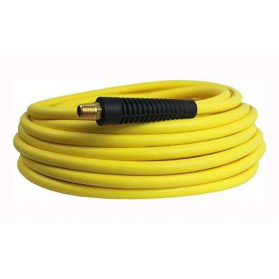 Hybrid Polymer 1/4 in. x 50 ft. Maximum 300 PSI Air Hose All Weather Lightweight No-Memory Non-Kinking