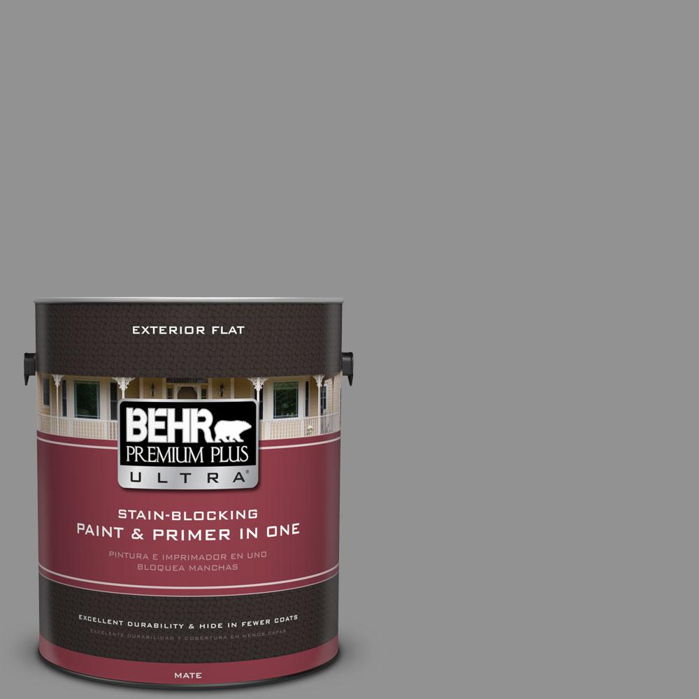 BEHR Premium Plus Ultra 1-gal. #N520-4 Cool Ashes Flat Exterior Paint