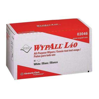 L40 White Pop-Up Wipers (9 Boxes of 90 Wipers)