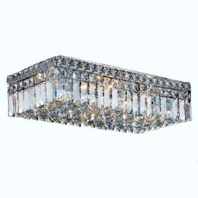 Cascade Collection 4 Light Crystal and Chrome Ceiling Light