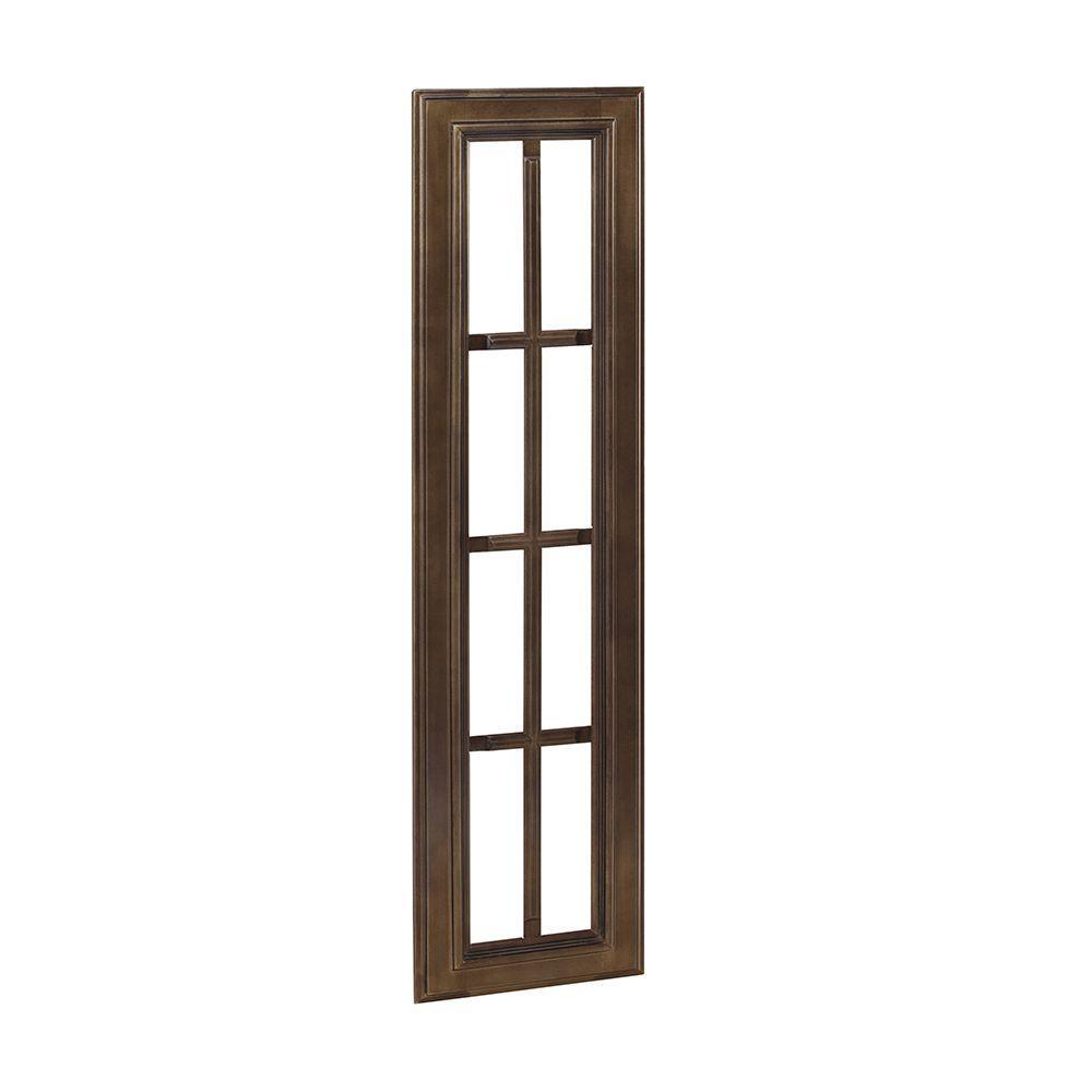Home Decorators Collection 15x42x.75 in. Mullion Door in Huntington Chocolate Glaze