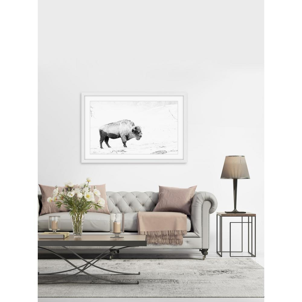 """16 in. H x 24 in. W """"Grazing Bison"""" by Marmont"""