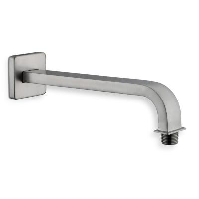 Modern 10 in. Brass Square Shower Arm in Brushed Nickel