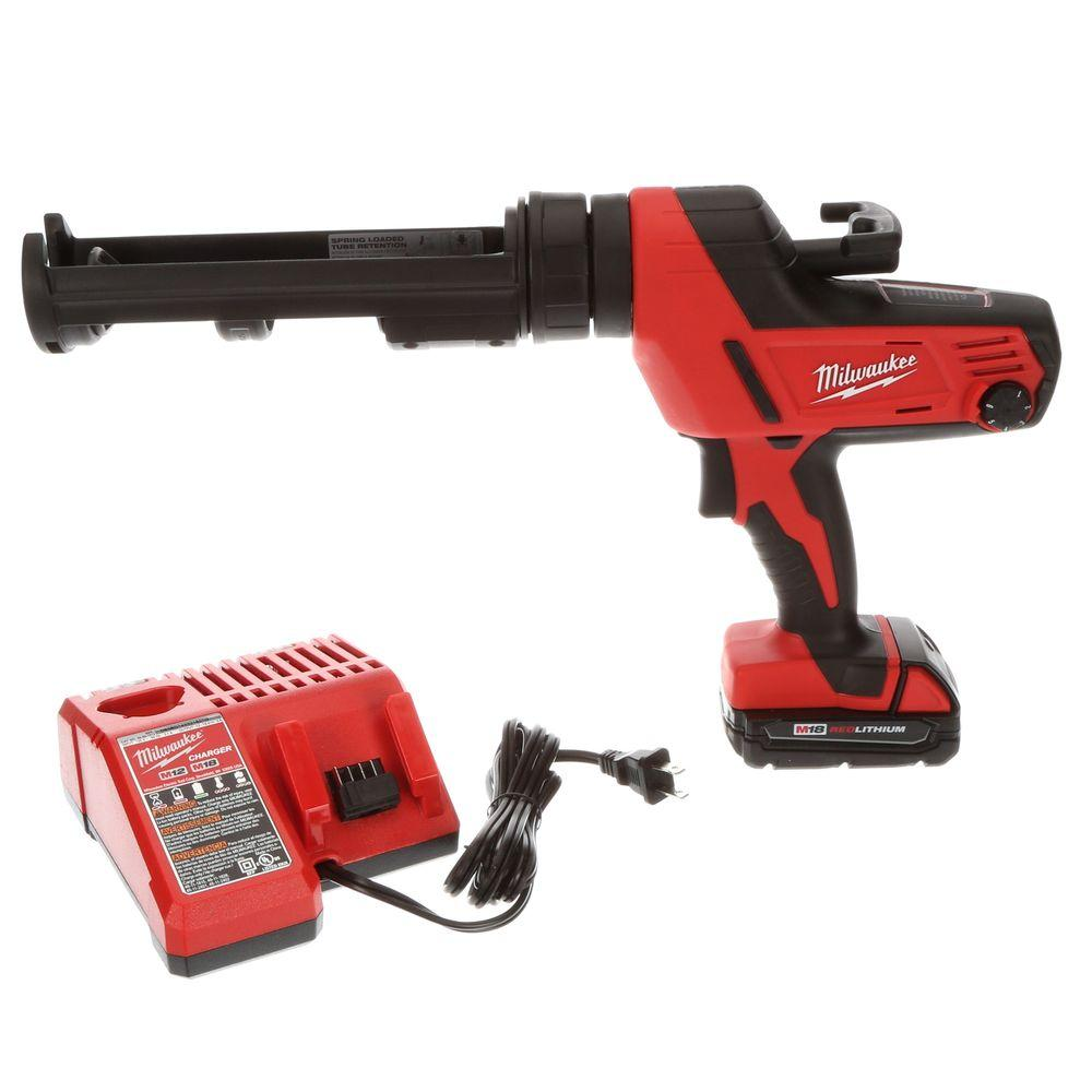 Milwaukee M18 18-Volt Lithium-Ion Cordless 10 oz. Caulk and Adhesive Gun Kit