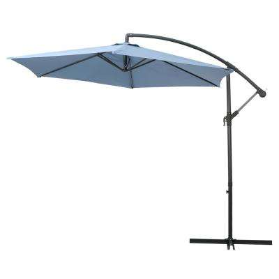 Marineland 9.86 ft. Iron Cantilever Tilt Patio Umbrella in Lavender