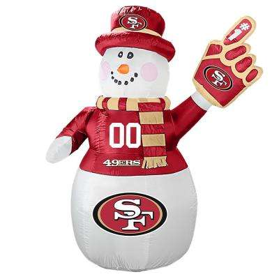 7 ft. San Francisco 49ers Inflatable Snowman