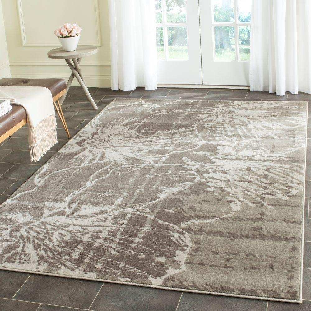 Safavieh Porcello Grey Dark Grey 6 Ft X 9 Ft Area Rug