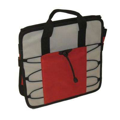 2 Pocket Red and Gray Vehicle Trunk Organizer