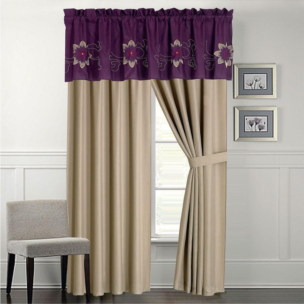Lavish Home Amanda Purple 24-Piece Queen Comforter Set 66-00014-24pc-Q