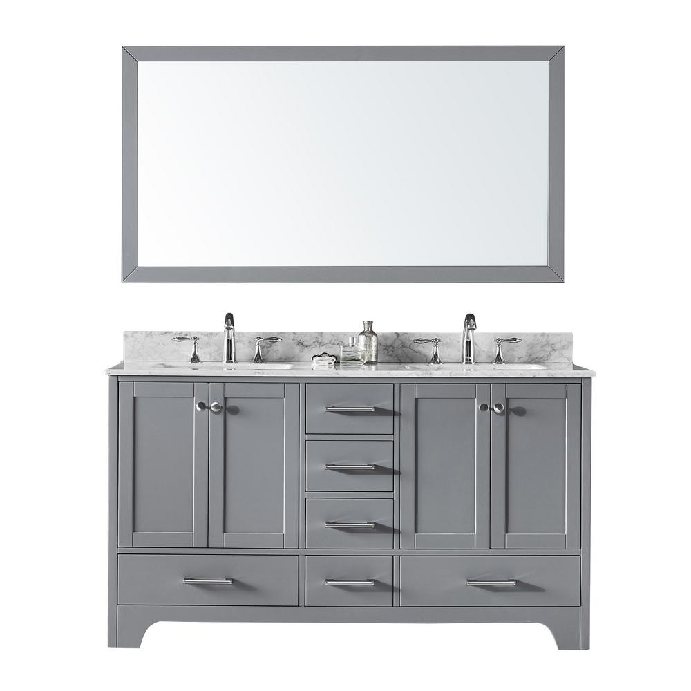 Double Sink Bathroom Vanity in Taupe Grey