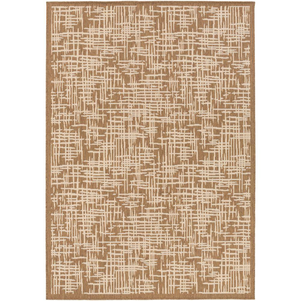 Toshima Beige 8 ft. x 11 ft. Indoor/Outdoor Area Rug