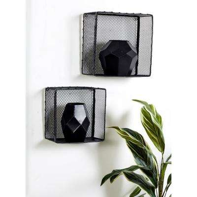 Square Iron Wire Frame Wall Baskets (Set of 3)