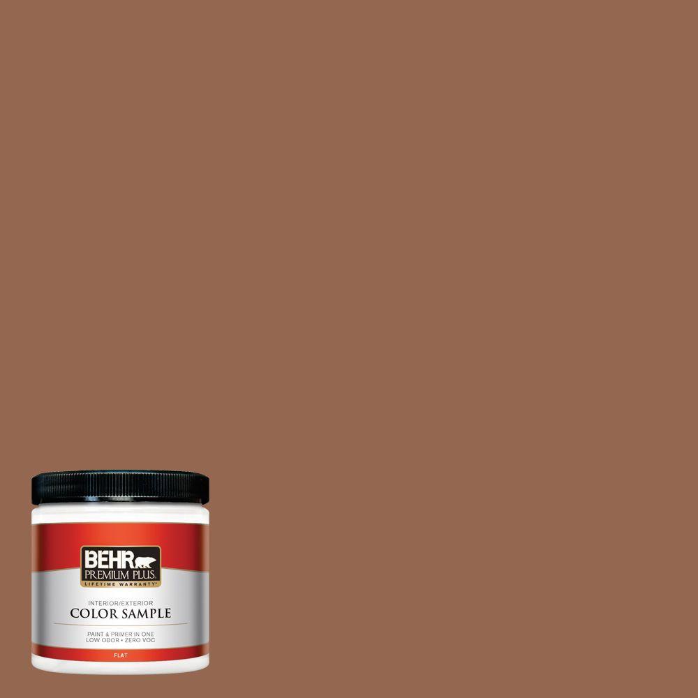 BEHR Premium Plus 8 oz. #240F-6 Sable Brown Interior/Exterior Paint Sample