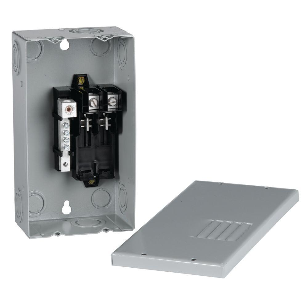 ge powermark gold 70 amp 2 space 4 circuit indoor single phase main lug circuit breaker panel 120v sub panel wiring sub panel installation with how to video