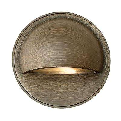Low-Voltage 20-Watt Matte Bronze Hardy Outdoor Island Deck-Mount Sconce