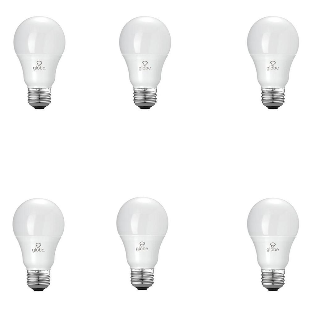60W Equivalent Daylight (5000K) A19 LED Light Bulb (6-Pack)