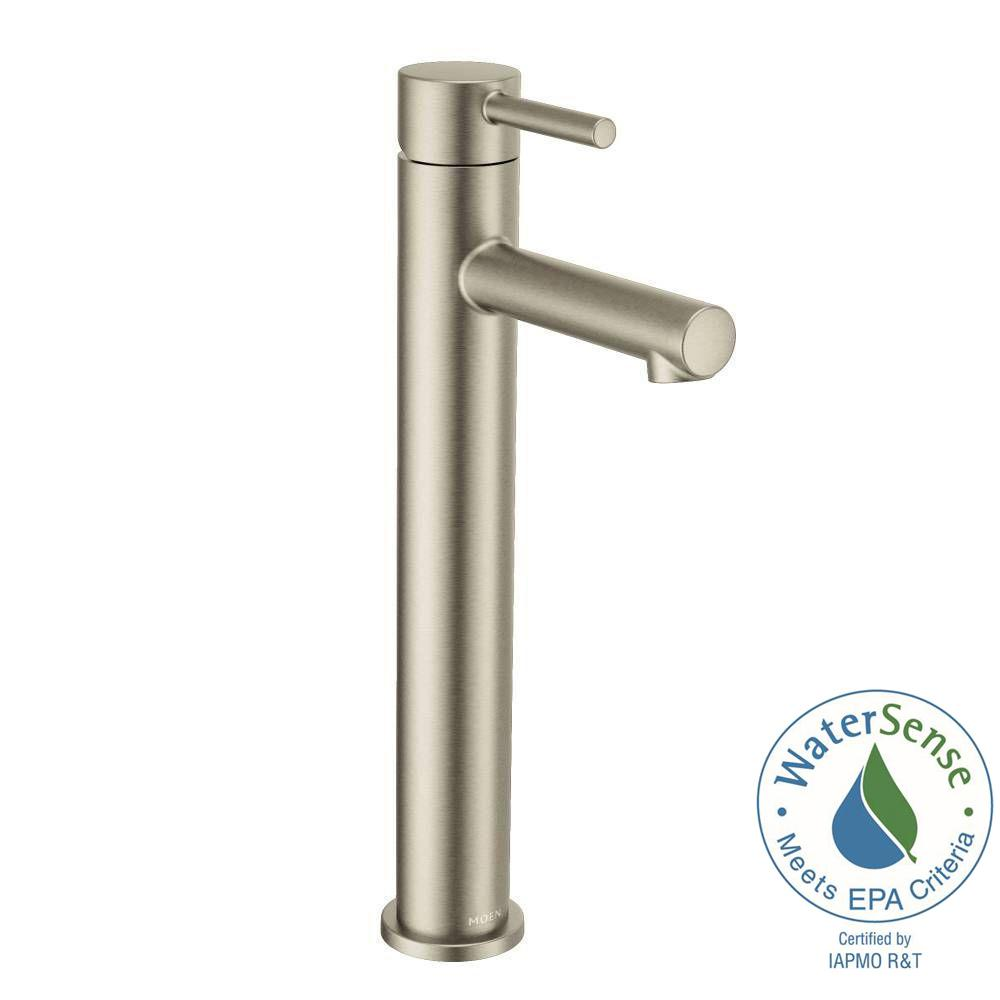 Align Single Hole 1-Handle Bathroom Faucet in Brushed Nickel