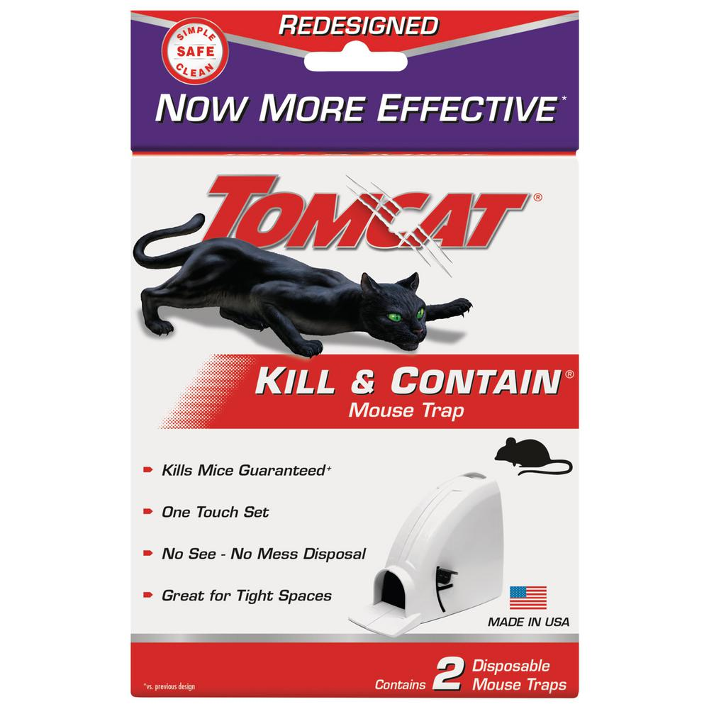 Tomcat Kill and Contain Mouse Trap (2-Pack)-0360610PM - The Home Depot