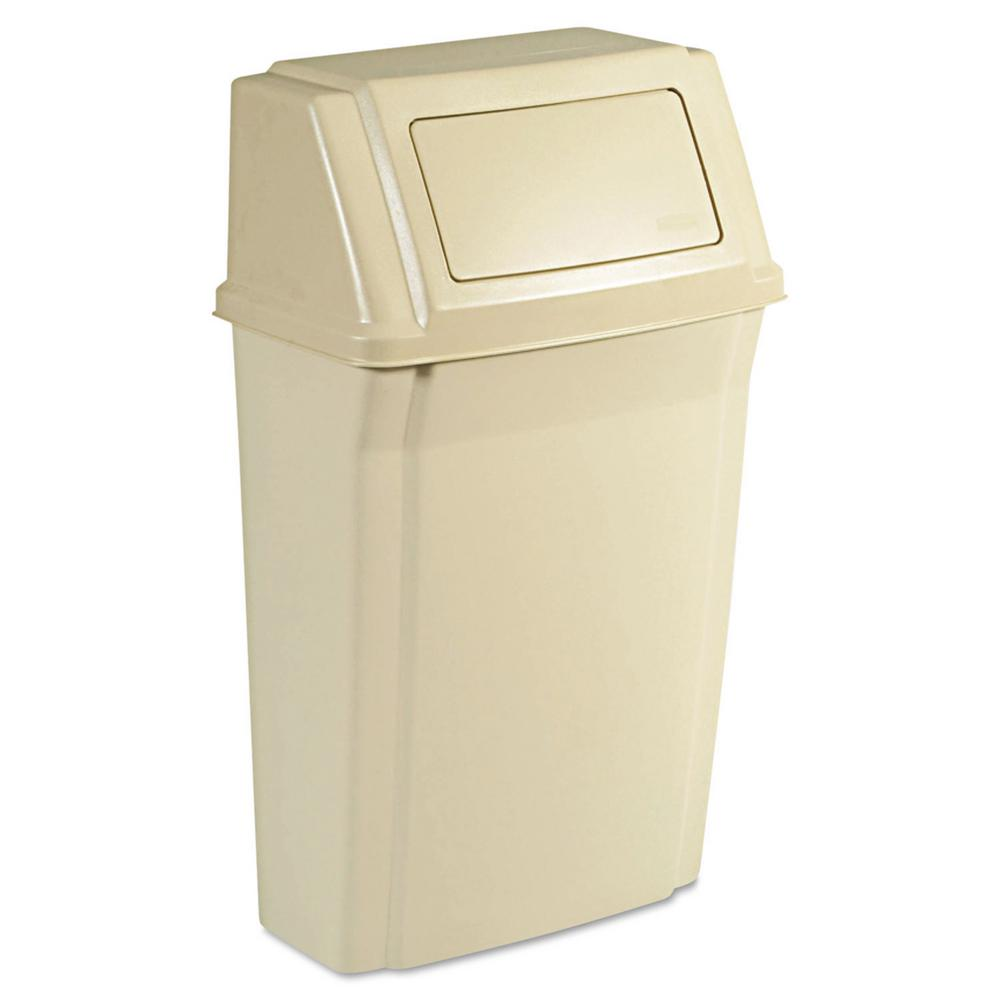 Rubbermaid Commercial Products Slim Jim 15 Gal Beige Wall