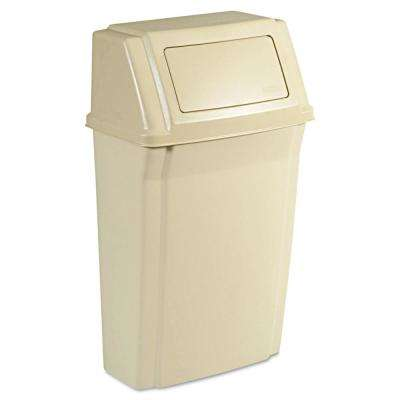 Slim Jim 15 Gal. Beige Wall-Mounted Trash Can