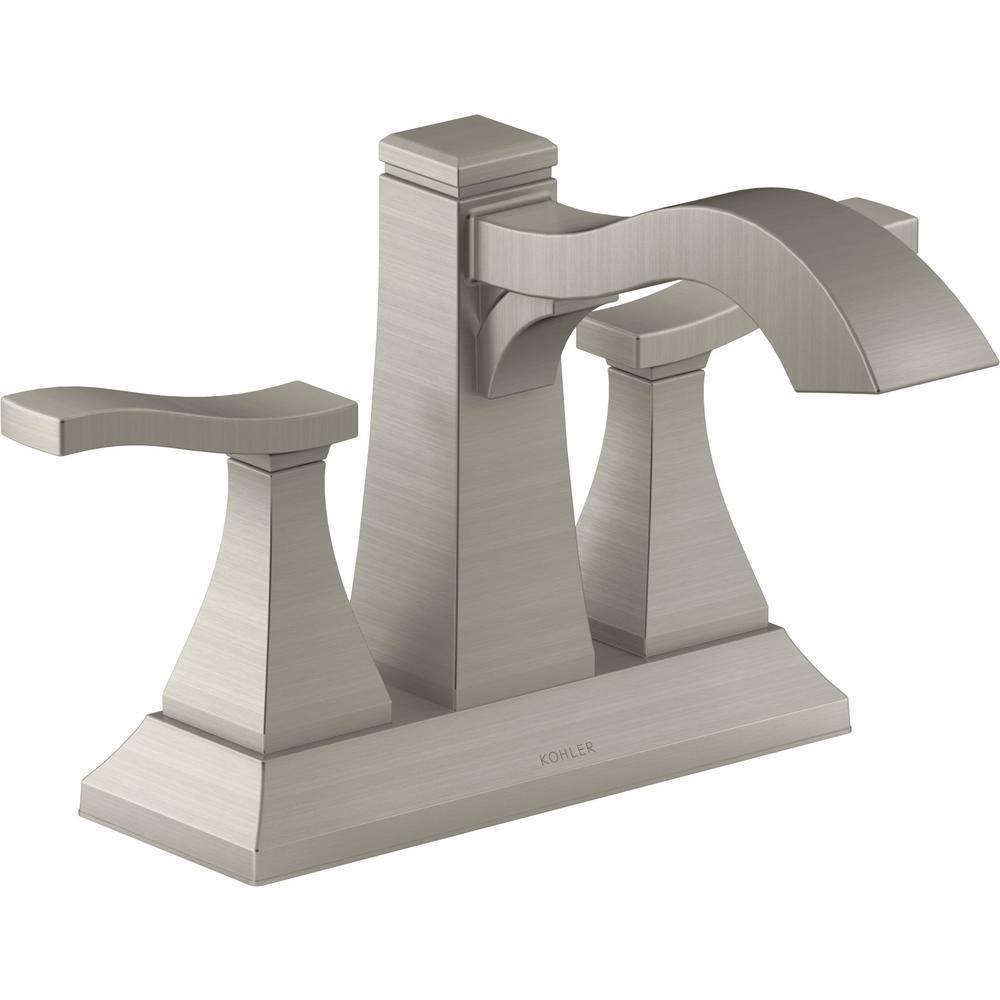 Truss 4 in. Centerset 2-Handle Bathroom Faucet in Vibrant Brushed Nickel