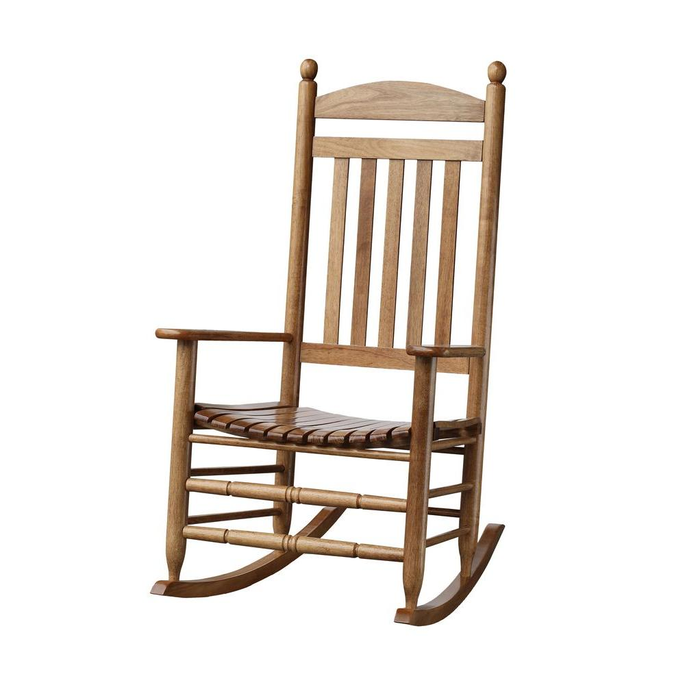 Bradley maple slat patio rocking chair 200sm rta the home depot - Rocking chair but ...