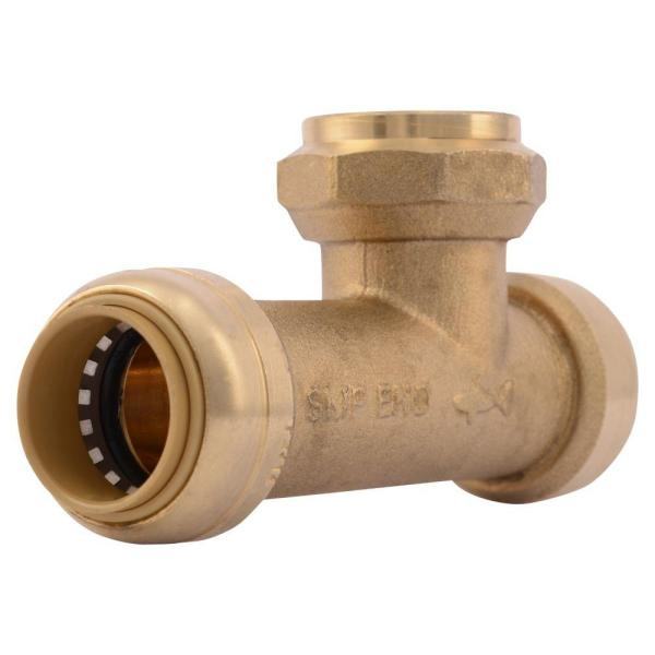 3/4 in. Push-to-Connect x Push-to-Connect x FIP Brass Expansion Tank Tee Fitting