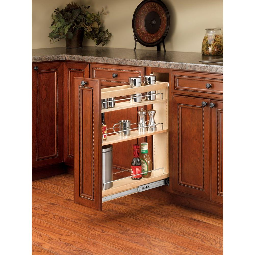 Rev-A-Shelf 25.48 in. H x 5 in. W x 22.47  sc 1 st  Home Depot & Rev-A-Shelf 25.48 in. H x 5 in. W x 22.47 in. D Pull-Out Wood Base ...