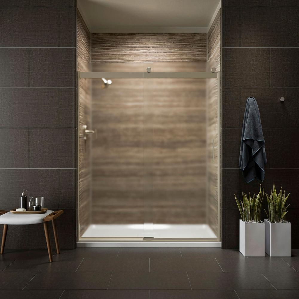 KOHLER Levity 59 in. x 74 in. Semi-Frameless Sliding Shower Door in ...