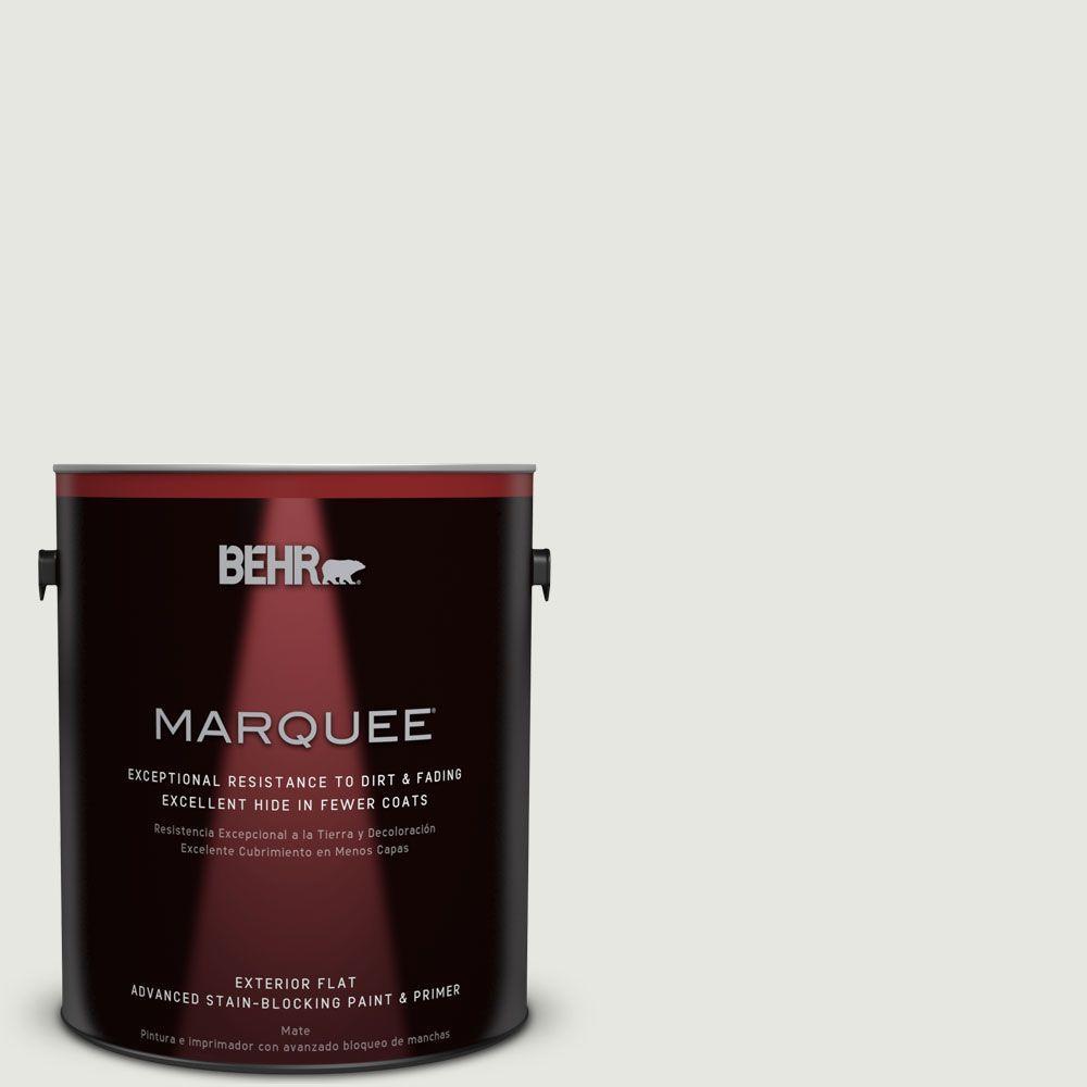 BEHR MARQUEE 1-gal. #PWN-64 Silver Dust Flat Exterior Paint