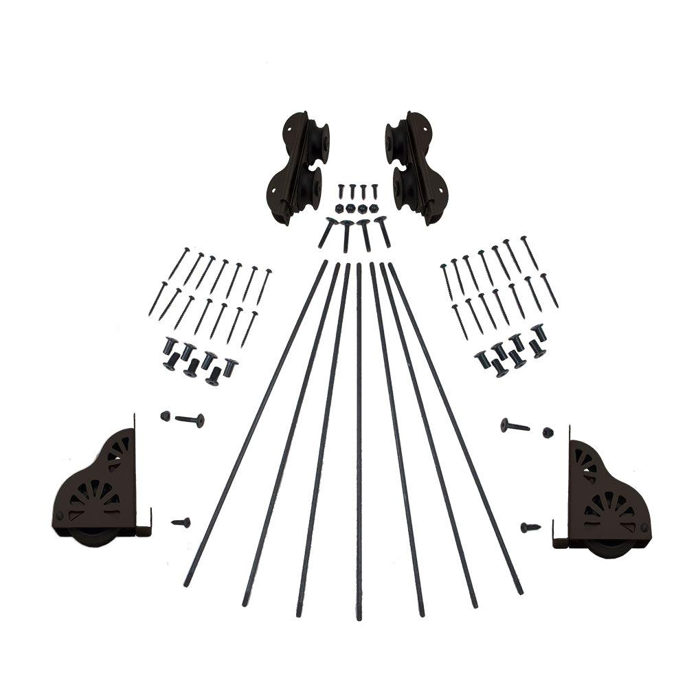 Oil Rubbed Bronze Braking Rolling Ladder Hardware Kit