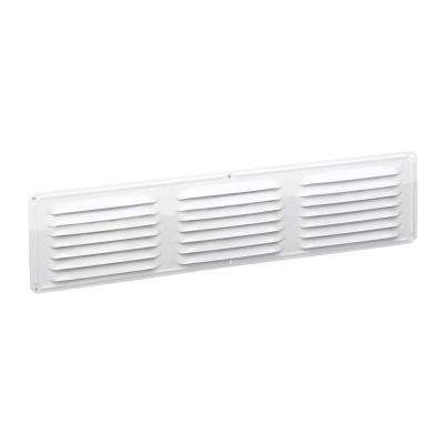 Under-eave 16 in. x 4 in. Louvered Aluminum Soffit Vent in White (Sold Soffit Vent in 24-Pieces/Carton Only)