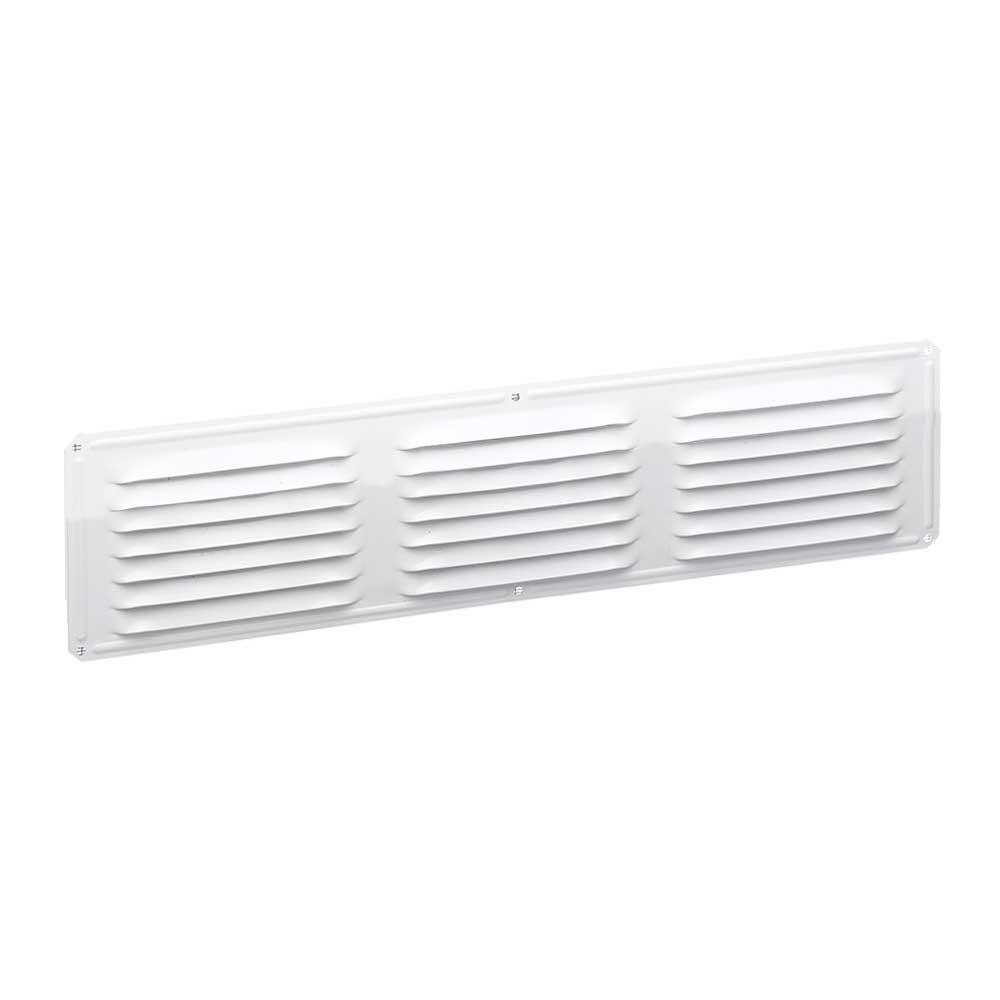 16 in. x 4 in. Aluminum Louvered Soffit Vent in White