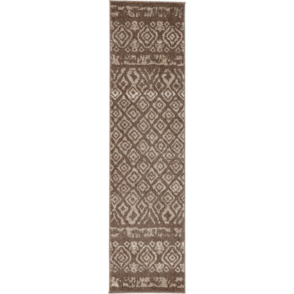 Tribal Essence Dark Beige 2 ft. x 7 ft. Runner Rug