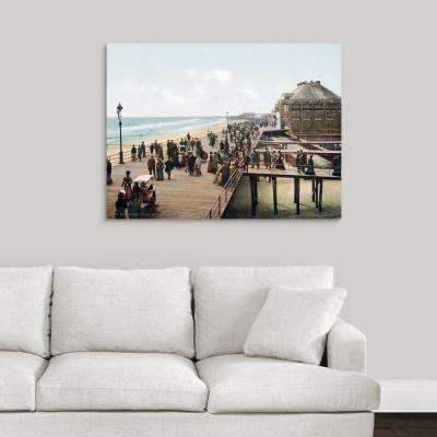 """""""The Board Walk Atlantic City New Jersey Vintage Photograph"""" by  The Henry Ford Canvas Wall Art"""