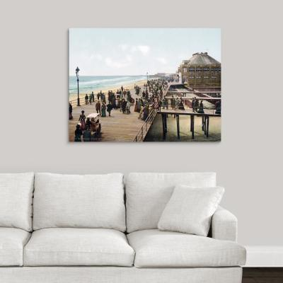 """The Board Walk Atlantic City New Jersey Vintage Photograph"" by The Henry Ford Canvas Wall Art"