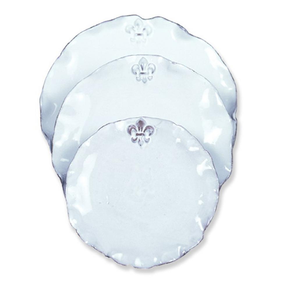 Aails Fleur De Lis White Ceramic