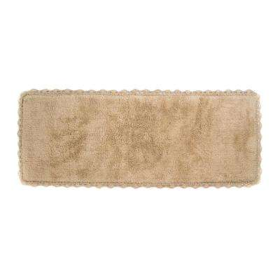 Crochet 22 in. x 60 in. Bath Runner in Linen