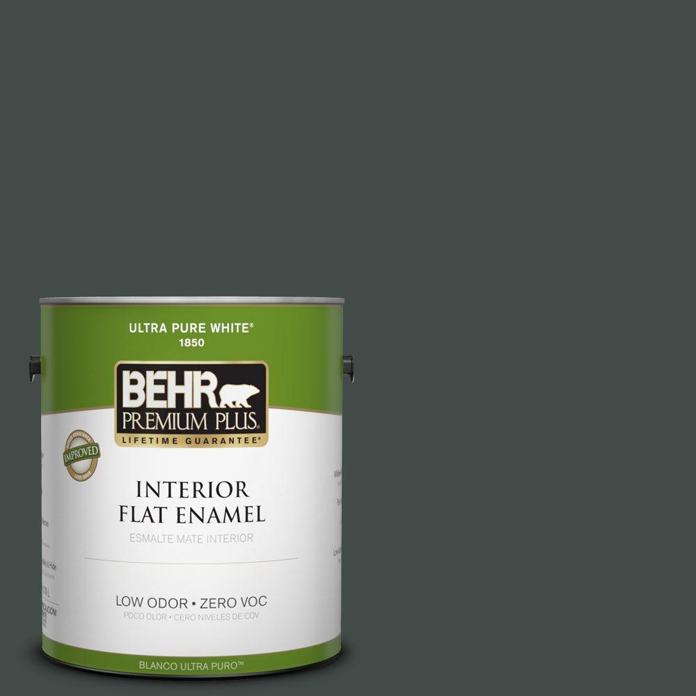 BEHR Premium Plus Home Decorators Collection 1-gal. #HDC-CL-21 Sporting Green Zero VOC Flat Enamel Interior Paint-DISCONTINUED