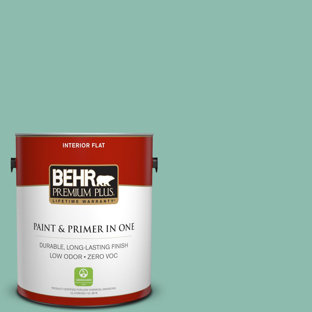 1 gal. #MQ6-37 Mild Evergreen Flat Zero VOC Interior Paint and