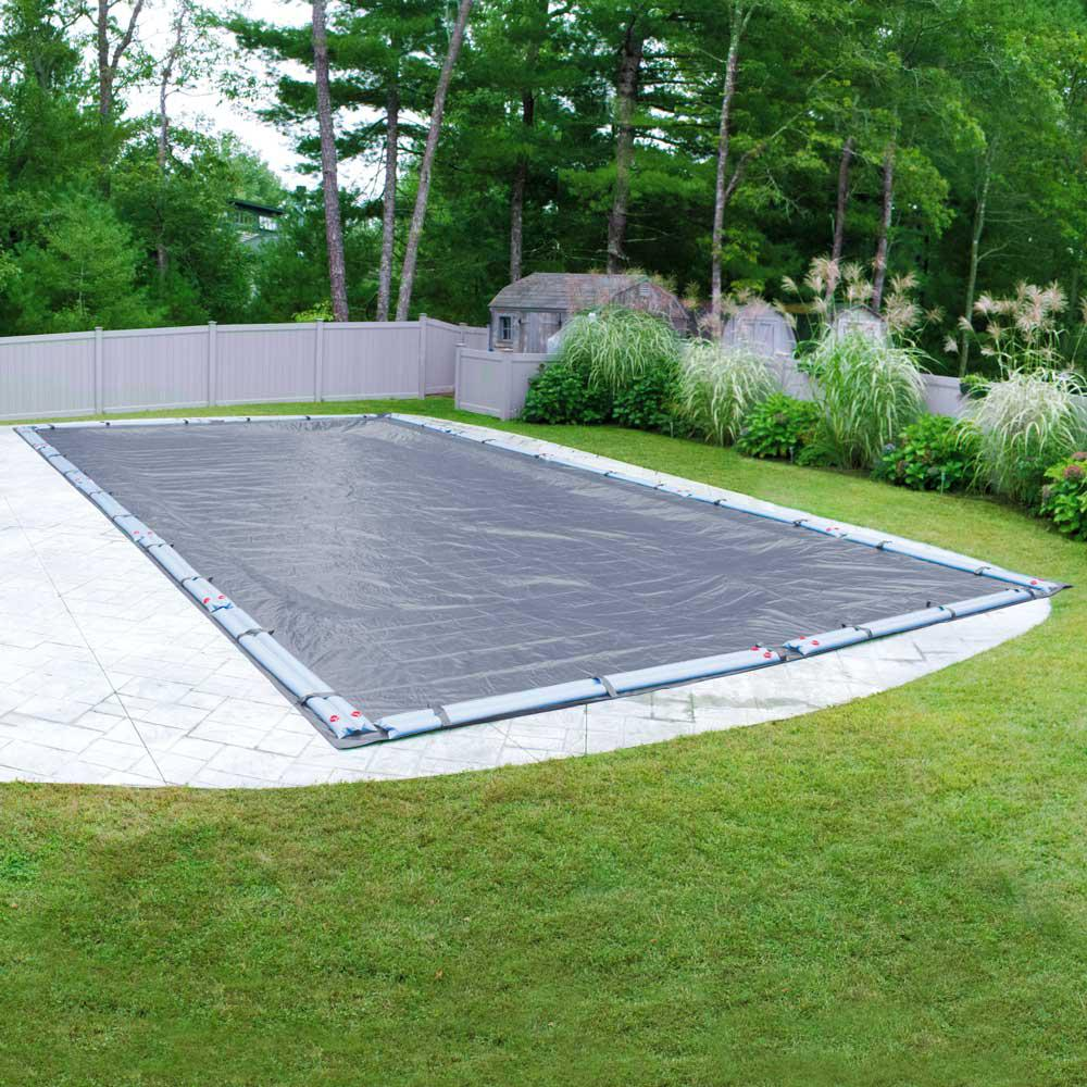 Classic 18 ft. x 40 ft. Rectangular Navy-Blue Winter Pool Cover