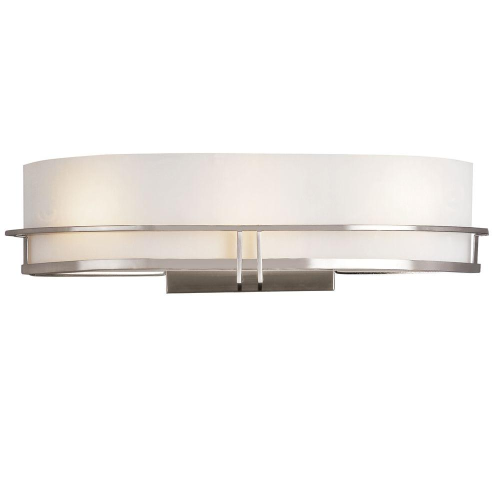 Bel Air Lighting Cabernet Collection 3-Light Pewter Sconce with White Opal Shade