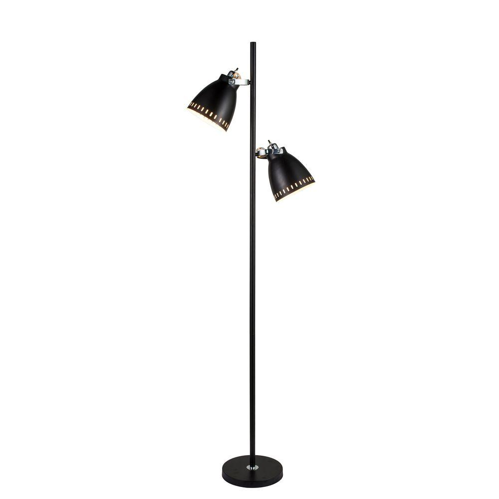 Fangio Lighting 68.5 in. Matte Black Metal Tree Floor Lamp