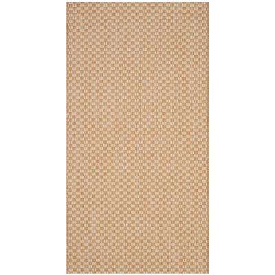 Courtyard Natural/Cream 3 ft. x 5 ft. Indoor/Outdoor Area Rug