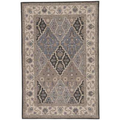 Poeme Gray 8 ft. x 10 ft. Medallion Rectangle Area Rug