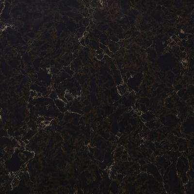 3 in. x 3 in. Quartz Countertop Sample in Nocturne