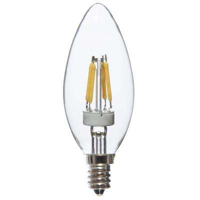 25W Equivalent Warm White Torpedo Dimmable LED Light Bulbs (8-Pack)